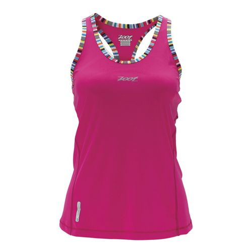 Womens Zoot Ultra Run Icefil Singlets Technical Tops - Beet S