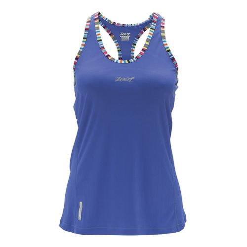 Womens Zoot Ultra Run Icefil Singlets Technical Tops - Violet Blue XS
