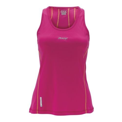 Womens Zoot Ultra Run Icefil Tanks Technical Tops - Beet L
