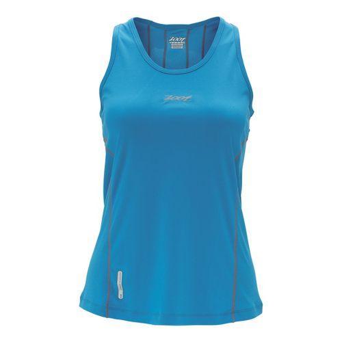Womens Zoot Ultra Run Icefil Tanks Technical Tops - Splash XL