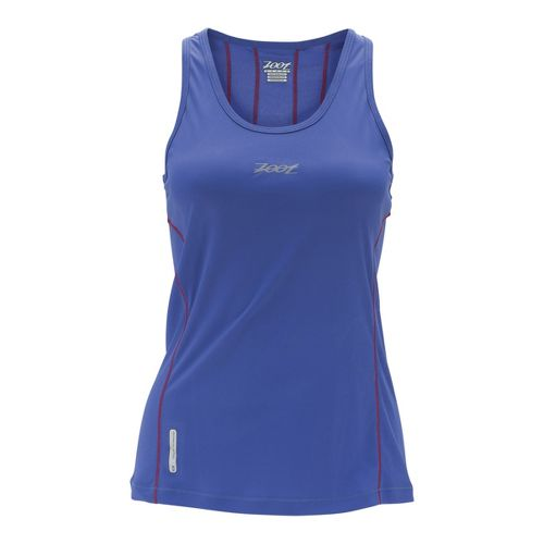 Womens Zoot Ultra Run Icefil Tanks Technical Tops - Violet Blue XS