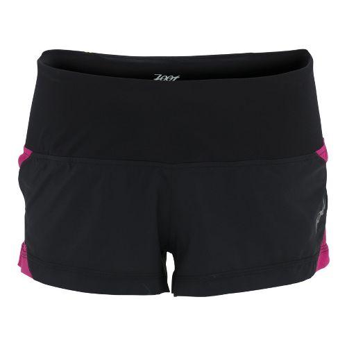 Womens Zoot Ultra Run Icefil 2 Lined Shorts - Black/Beet L