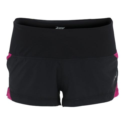 Womens Zoot Ultra Run Icefil 2 Lined Shorts - Black/Beet XS
