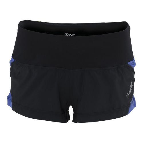 Womens Zoot Ultra Run Icefil 2 Lined Shorts - Black/Violet Blue L