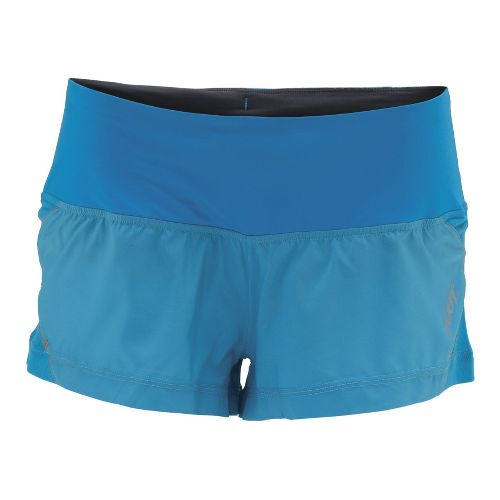 Womens Zoot Ultra Run Icefil 2 Lined Shorts - Splash/Splash L