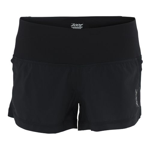 Womens Zoot W Ultra Run Icefil 3 Inch Lined Shorts - Black/Black L