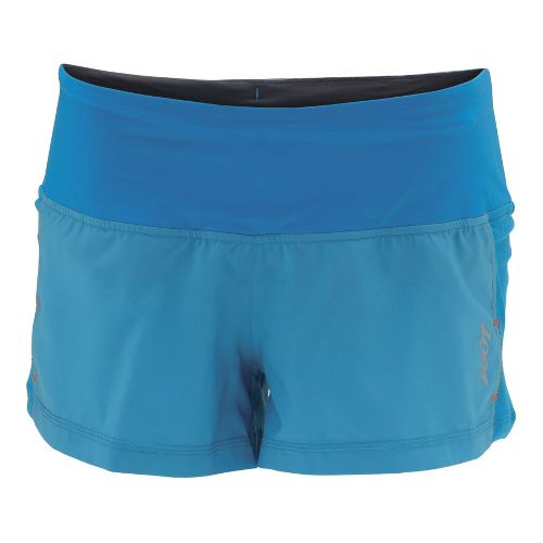 Womens Zoot W Ultra Run Icefil 3 Inch Lined Shorts - Splash/Splash S