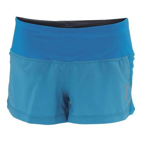 Womens Zoot W Ultra Run Icefil 3 Inch Lined Shorts - Splash/Splash XL