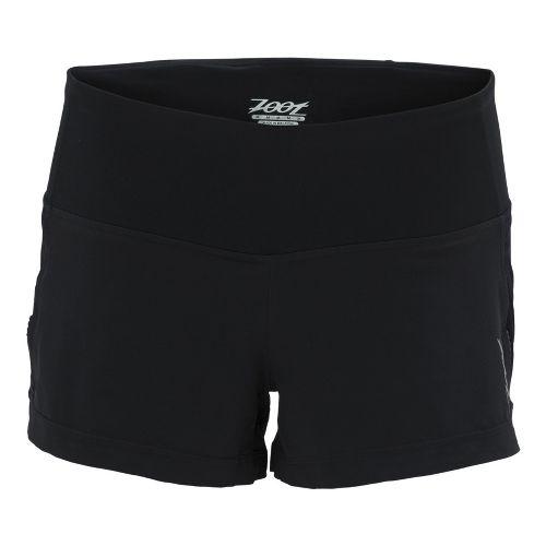 Womens Zoot Ultra Run Icefil 3 Inch 2-in-1 Shorts - Black/Black L