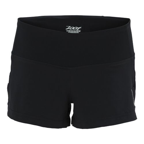 Womens Zoot Ultra Run Icefil 3 Inch 2-in-1 Shorts - Black/Black S