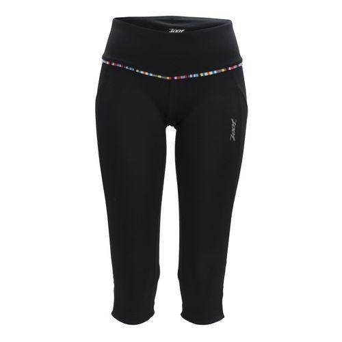 Womens Zoot Ultra Run Pulse Capri Tights - Black/Black XL