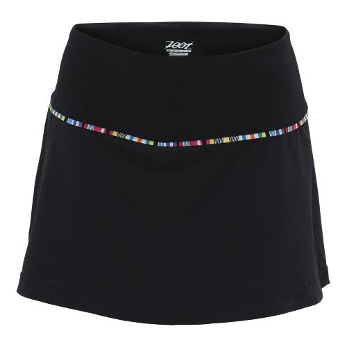 Womens Zoot Ultra Run 2-in-1 Skort Fitness Skirts - Black L