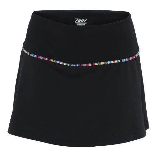 Womens Zoot Ultra Run 2-in-1 Skort Fitness Skirts - Black XL
