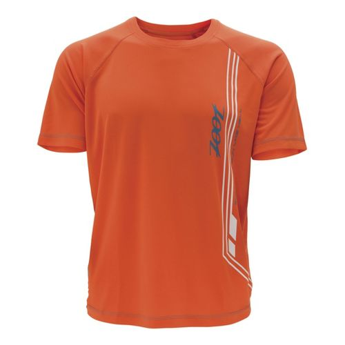 Mens Zoot Ultra Run Icefil Mesh Tee Short Sleeve Technical Tops - Flame/Stellar M