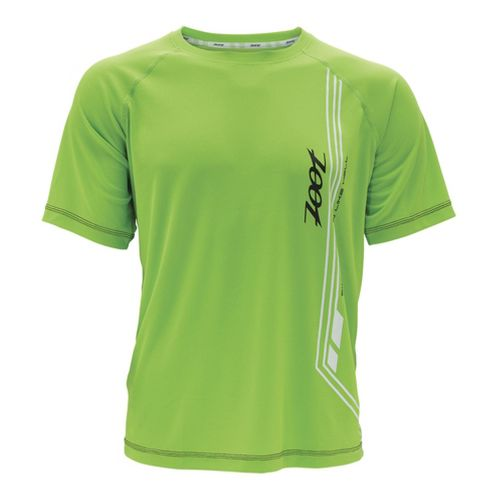 Mens Zoot Ultra Run Icefil Mesh Tee Short Sleeve Technical Tops - Green Flash/Black L ...