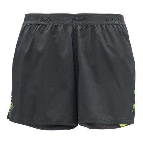 Mens Zoot Ultra Run Icefil 3 Inch Lined Shorts - Pewter/Safety Yellow M