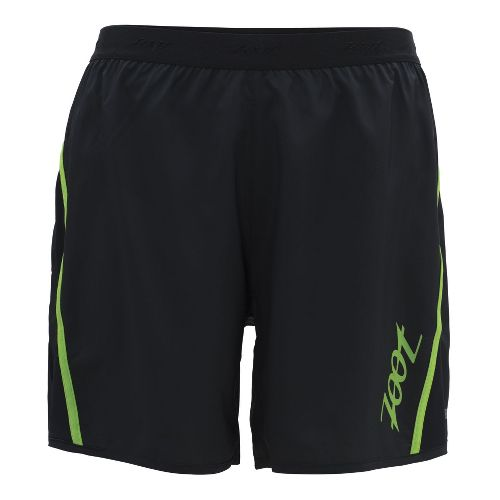 Mens Zoot Ultra Run Icefil 6 Inch Lined Shorts - Black/Green Flash L