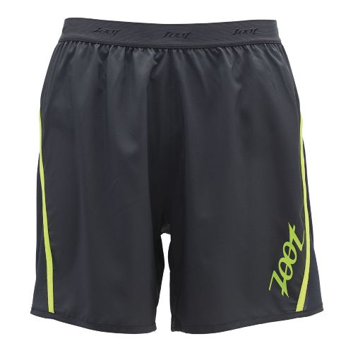 Mens Zoot Ultra Run Icefil 6 Inch Lined Shorts - Pewter/Safety Yellow L