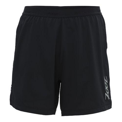 Mens Zoot Ultra Run Icefil 6 Inch 2-in-1 Shorts - Black/Black M