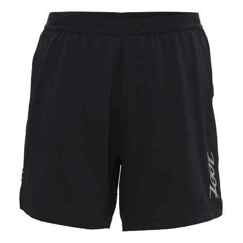 Mens Zoot Ultra Run Icefil 6 Inch 2-in-1 Shorts - Black/Black XL