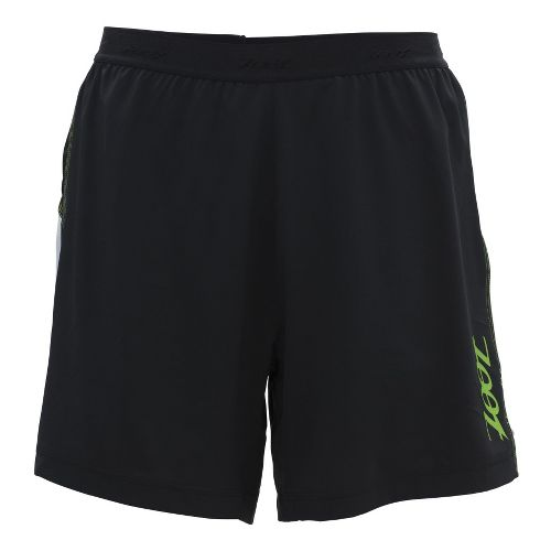 Mens Zoot Ultra Run Icefil 6 Inch 2-in-1 Shorts - Black/Green Flash S