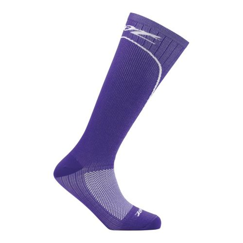 Womens Zoot Performance 2.0 CRx Sock Injury Recovery - Purple/White L