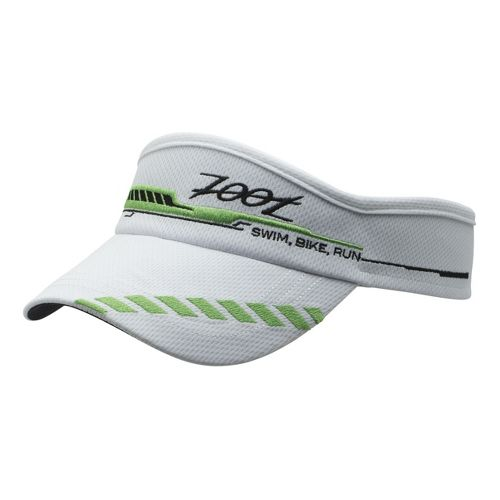 Mens Zoot Performance Ventilator Visor Headwear - White/Green Flash