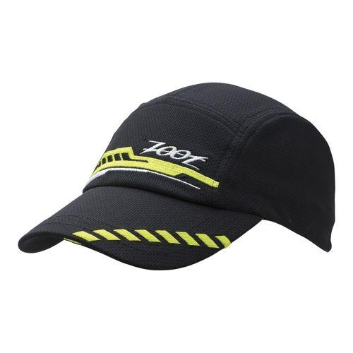 Mens Zoot Performance Ventilator Cap Headwear - Black/Safety Yellow