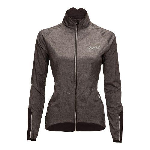 Womens Zoot ULTRA FLEXwind Running Jackets - Black/Heather Black L