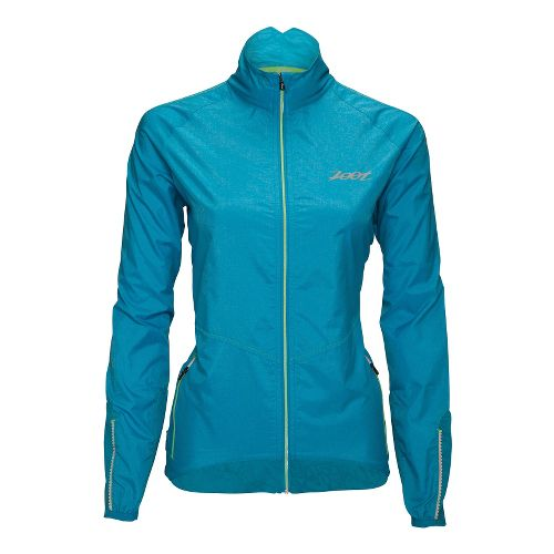 Womens Zoot ULTRA FLEXwind Running Jackets - Splash XS