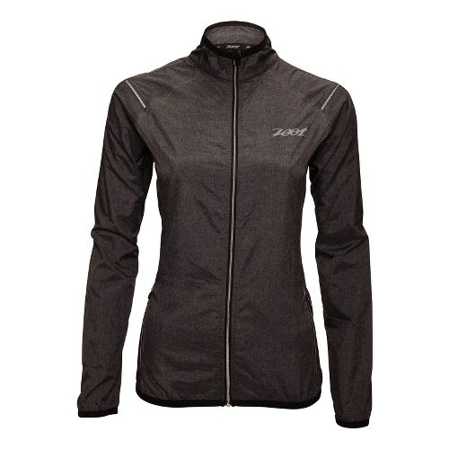 Womens Zoot ETHERwind Running Jackets - Black Heather XL