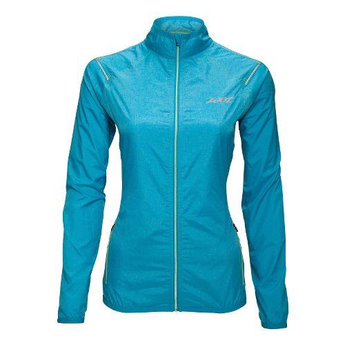 Womens Zoot ETHERwind Running Jackets - Splash L