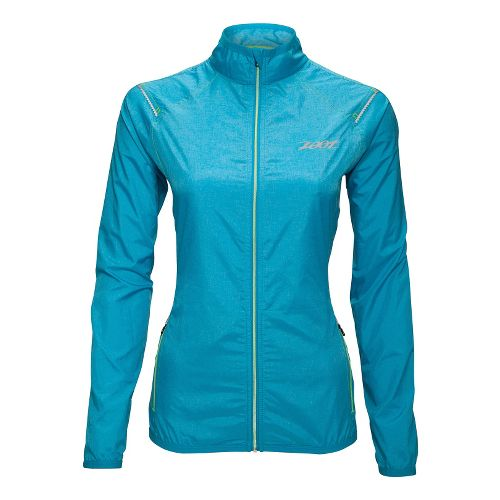 Womens Zoot ETHERwind Running Jackets - Splash XL
