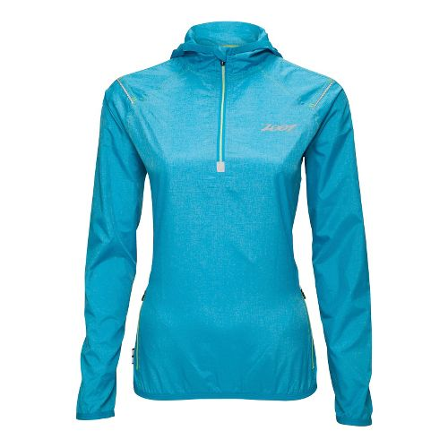 Womens Zoot ETHERwind Long Sleeve 1/2 Zip Technical Tops - Splash XS