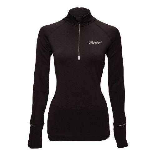Womens Zoot ULTRA MEGAheat Long Sleeve 1/2 Zip Technical Tops - Black S