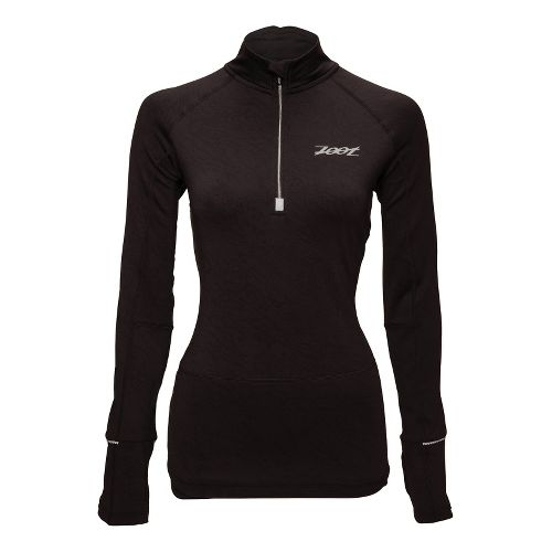 Womens Zoot ULTRA MEGAheat Long Sleeve 1/2 Zip Technical Tops - Black XS