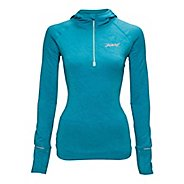 Womens Zoot ULTRA MEGAheat Hoodie Long Sleeve 1/2 Zip Technical Tops