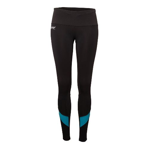 Womens Zoot ULTRA MEGAheat Fitted Tights - Black/Splash S