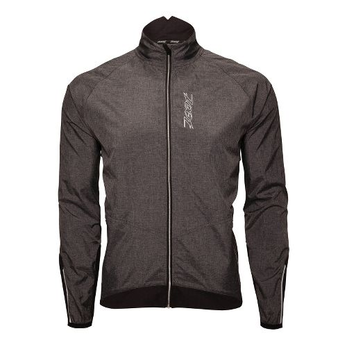 Mens Zoot ULTRA FLEXwind Running Jackets - Black/Heather Black M