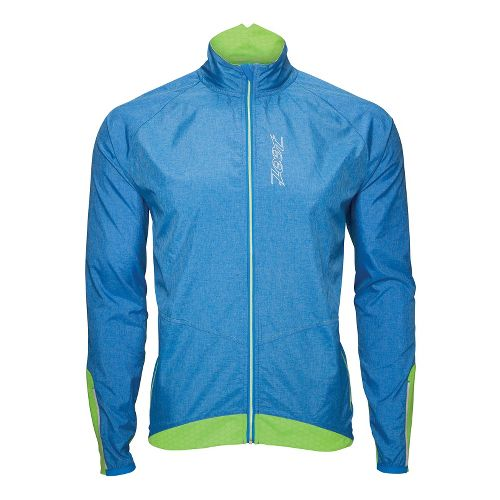 Mens Zoot ULTRA FLEXwind Running Jackets - Zoot Blue/Green Flash M