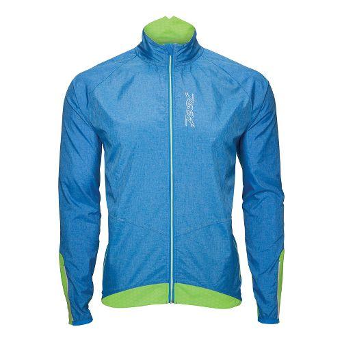 Mens Zoot ULTRA FLEXwind Running Jackets - Zoot Blue/Green Flash S