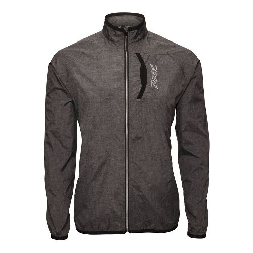 Mens Zoot ETHERwind Running Jackets - Black Heather XL