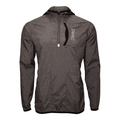 Mens Zoot ETHERwind Long Sleeve 1/2 Zip Technical Tops - Black Heather M