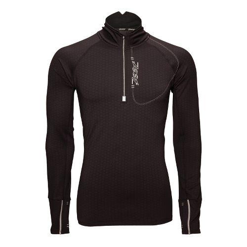 Mens Zoot ULTRA MEGAheat Long Sleeve 1/2 Zip Technical Tops - Black S