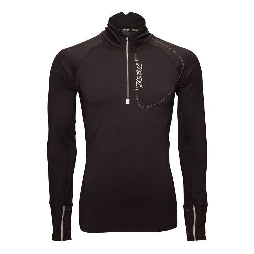 Mens Zoot ULTRA MEGAheat Long Sleeve 1/2 Zip Technical Tops - Black XL