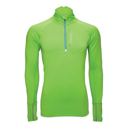 Mens Zoot ULTRA MEGAheat Long Sleeve 1/2 Zip Technical Tops - Green Flash S