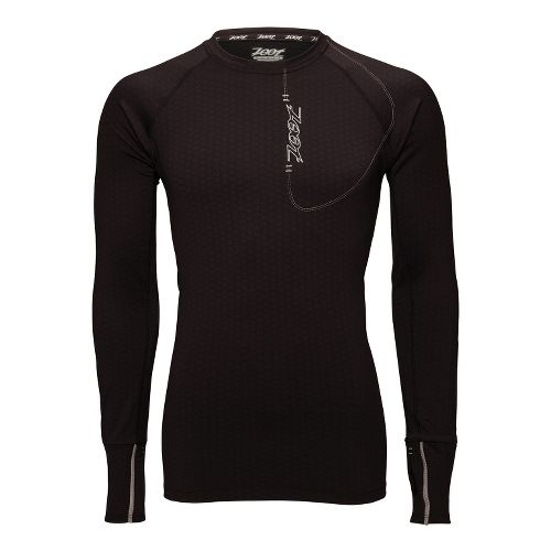 Mens Zoot ULTRA MEGAheat Tee Long Sleeve No Zip Technical Tops - Black L