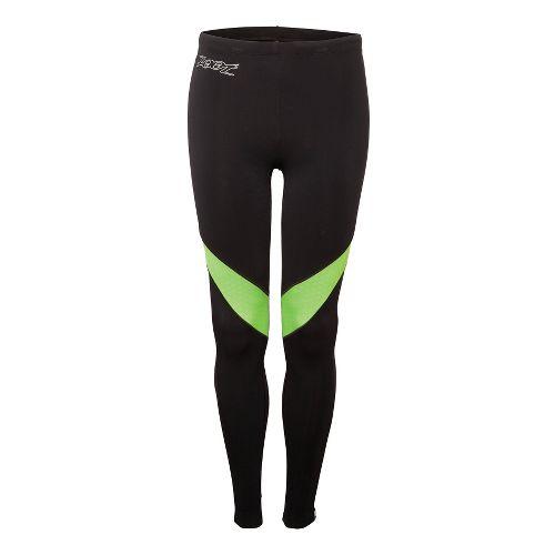 Mens Zoot ULTRA MEGAheat Fitted Tights - Black/Green Flash L