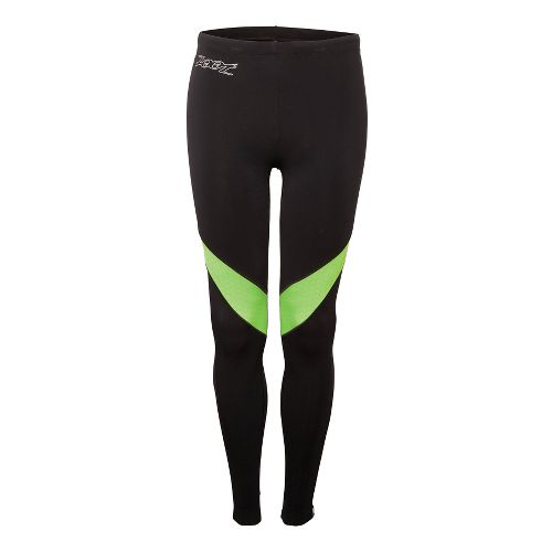 Mens Zoot ULTRA MEGAheat Fitted Tights - Black/Green Flash S
