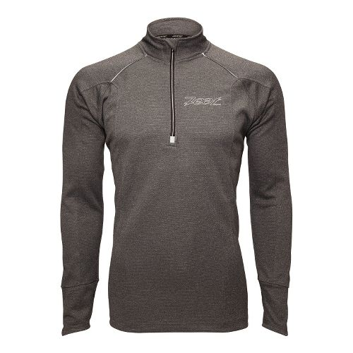 Mens Zoot MICROlite+ Long Sleeve 1/2 Zip Technical Tops - Black Heather M